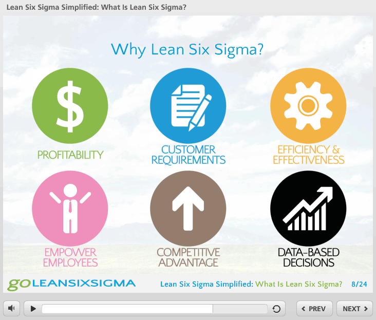 What Is Lean Six Sigma? - Webinar Screen Shot