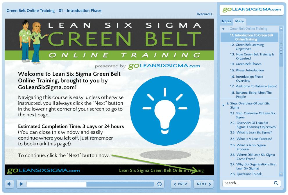 Green Belt Training Launch Screen Shot
