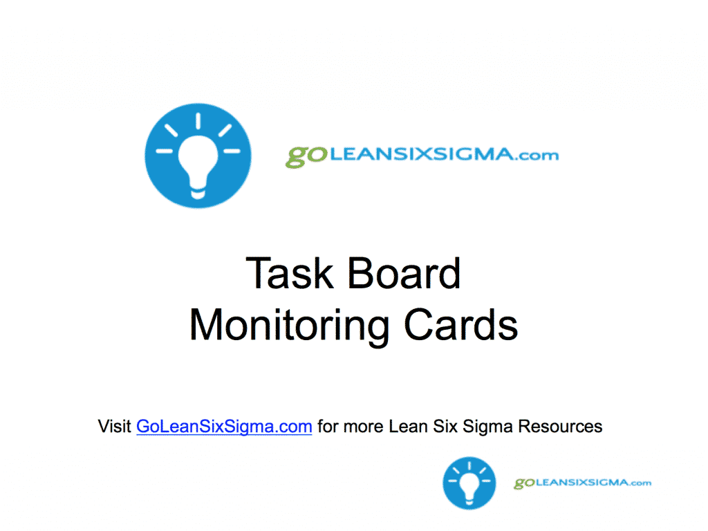 LSW Task Board Monitoring Cards - GoLeanSixSigma.com